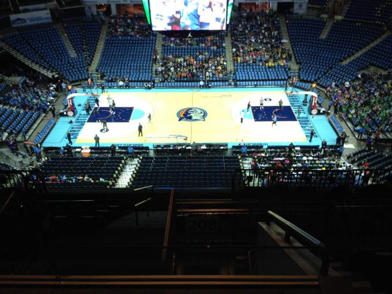 Seating view for Spectrum Center Section 208 Row J Seat 21
