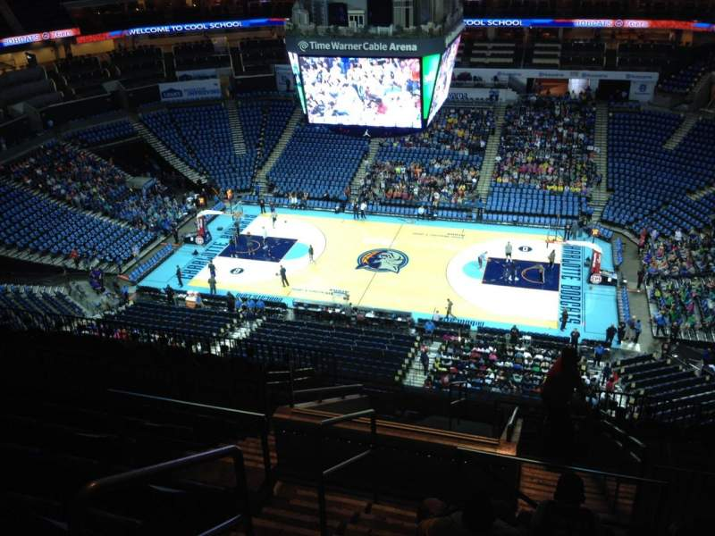 Seating view for Spectrum Center Section 207 Row M Seat 19