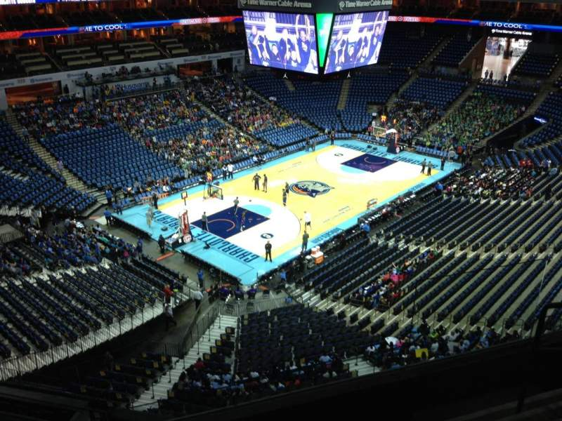Seating view for Spectrum Center Section 213 Row D Seat 2