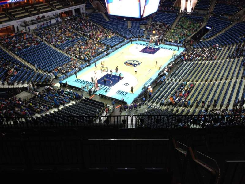 Seating view for Spectrum Center Section 214 Row J Seat 11
