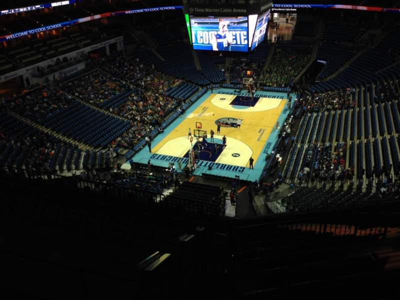 Seating view for Spectrum Center Section 215 Row J Seat 9