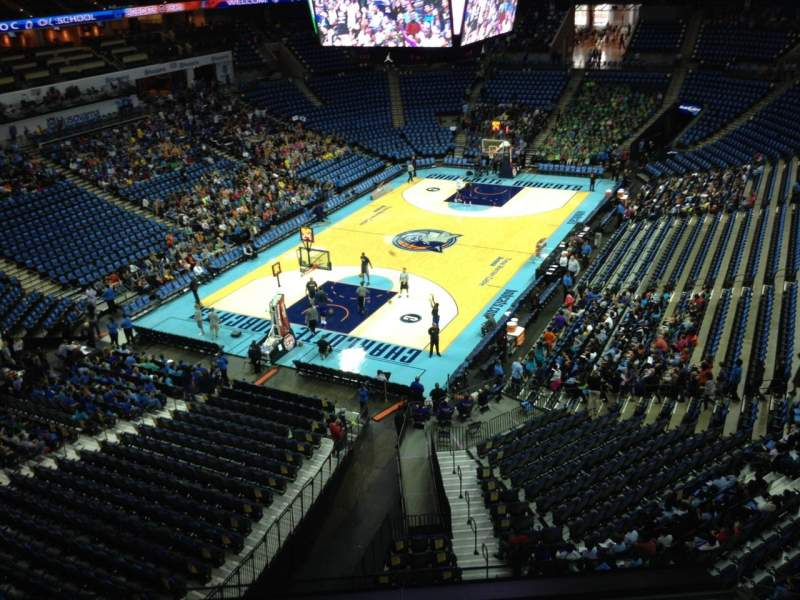 Seating view for Spectrum Center Section 214 Row A3 Seat 14