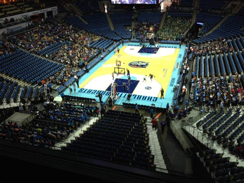 Seating view for Spectrum Center Section 216 Row A3 Seat 10