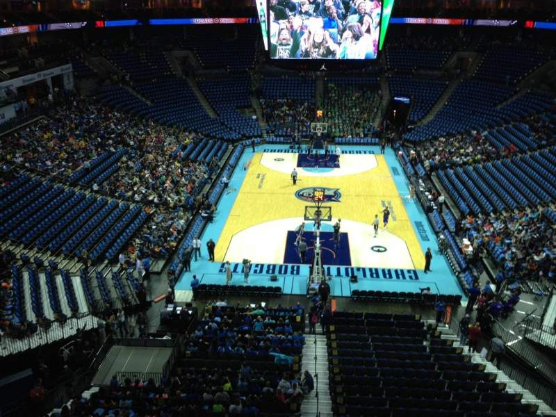 Seating view for Spectrum Center Section 217 Row A3 Seat 12