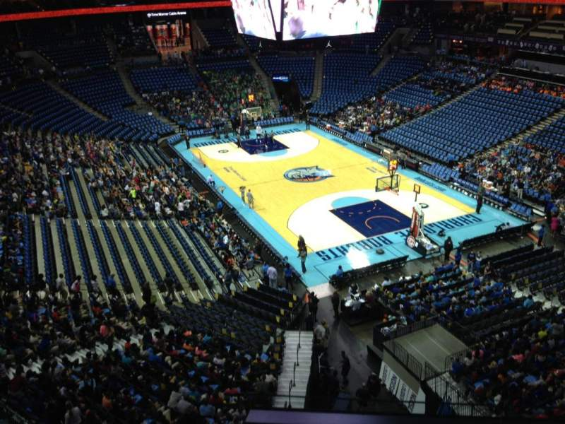 Seating view for Spectrum Center Section 220 Row A3 Seat 10