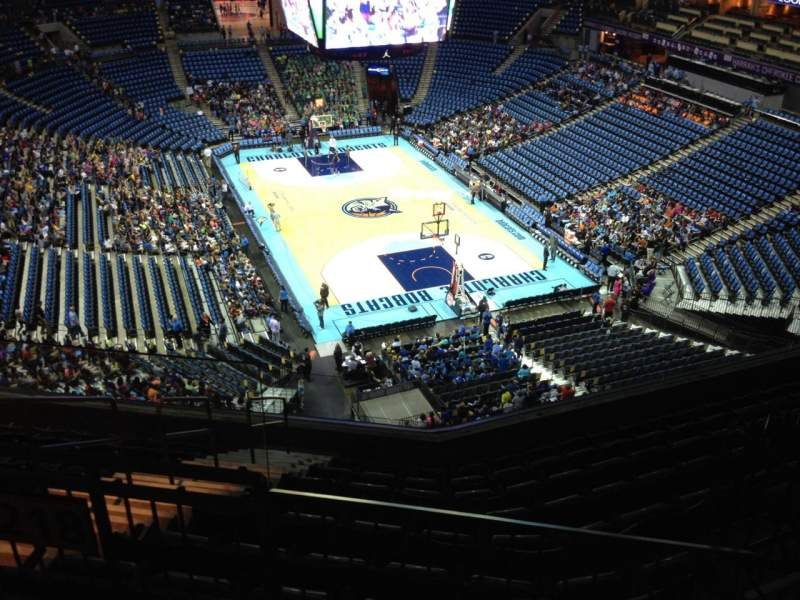 Seating view for Spectrum Center Section 219 Row F Seat 3
