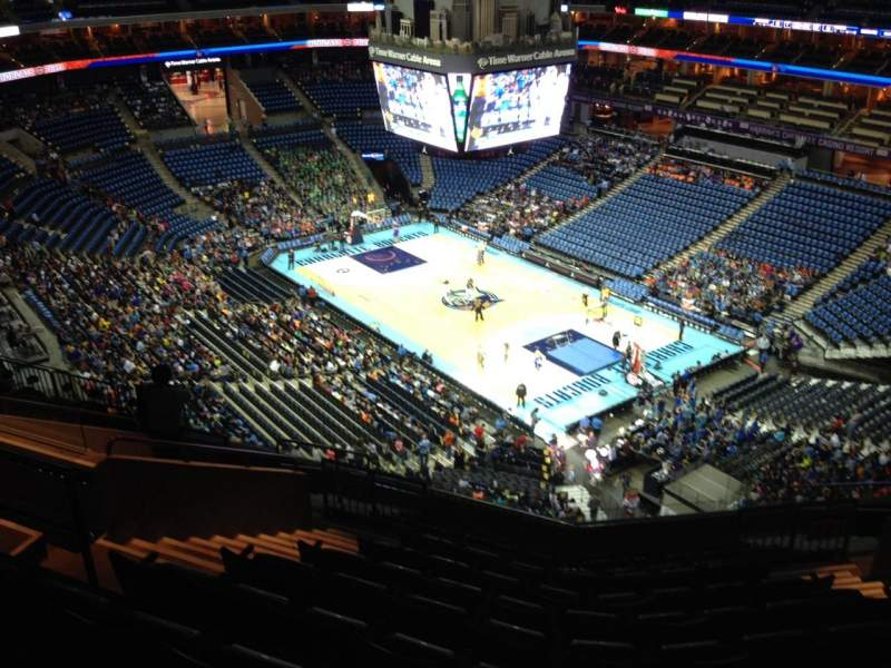 Seating view for Spectrum Center Section 221 Row L Seat 11