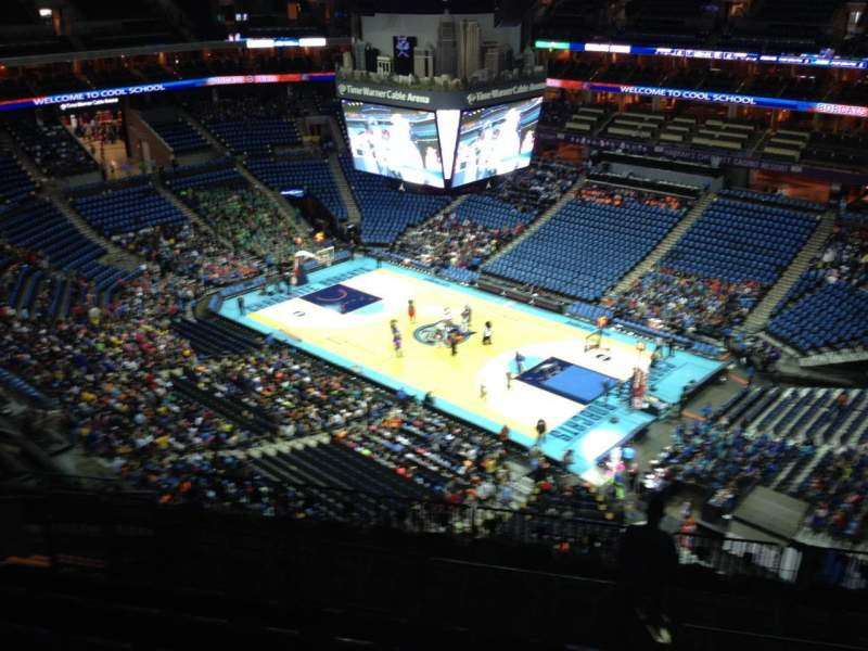 Seating view for Spectrum Center Section 222 Row L Seat 10