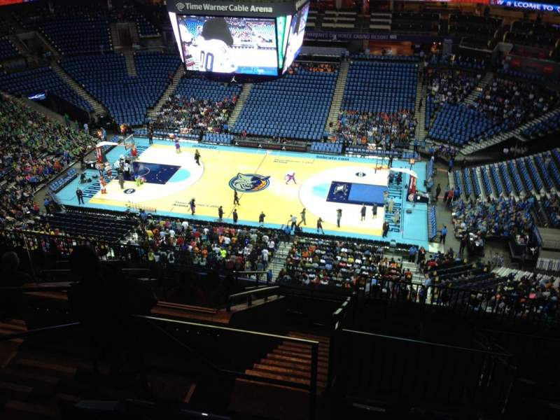 Seating view for Spectrum Center Section 224 Row L Seat 17