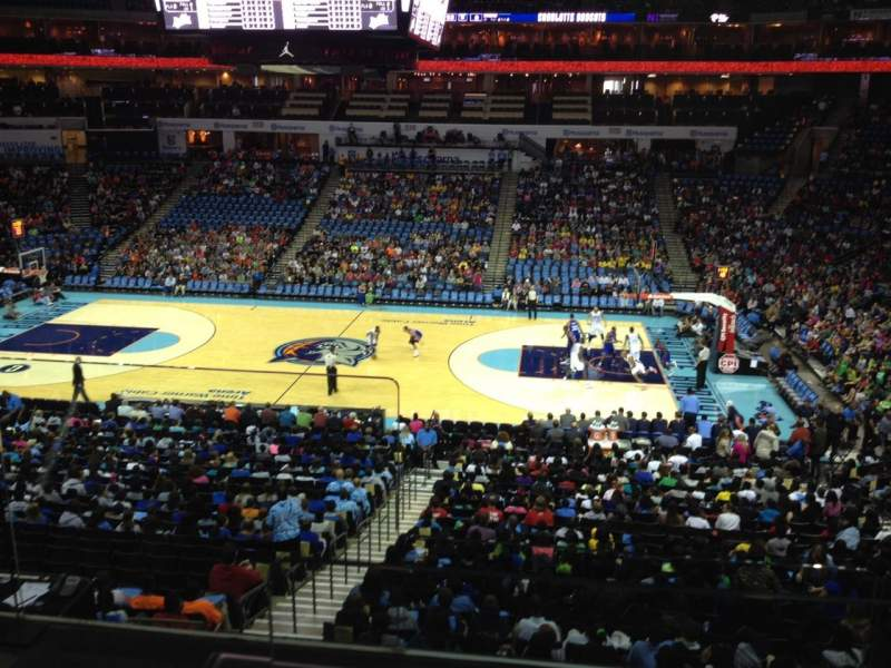 Seating view for Spectrum Center Section F01 Row D Seat 7