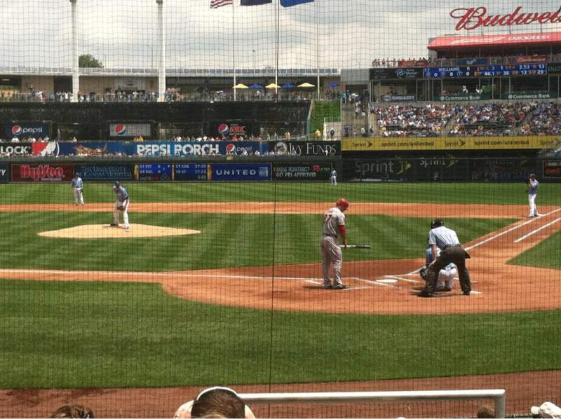 Seating view for Kauffman Stadium Section 125 Row H Seat 1