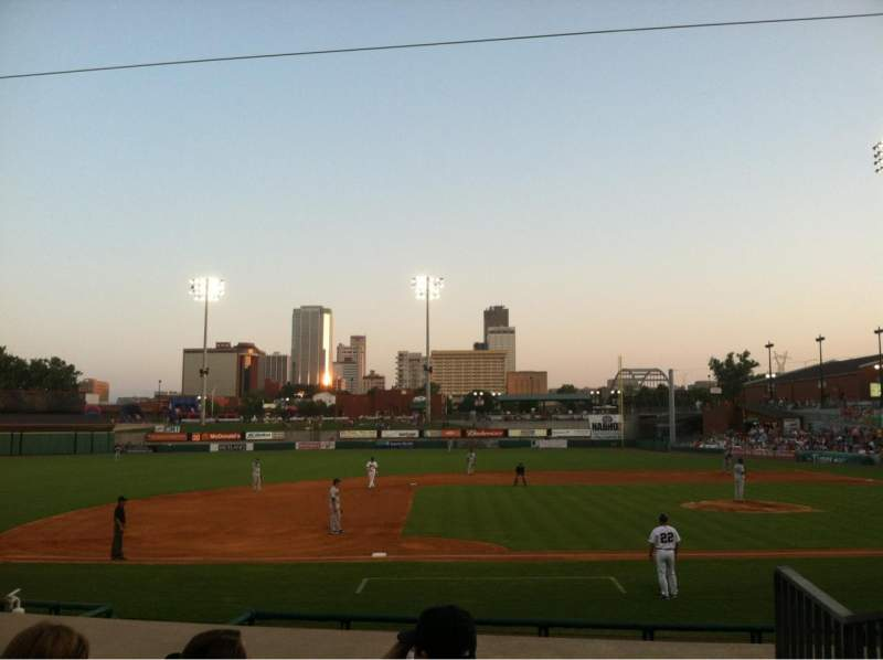 Seating view for Dickey-Stephens Park Section 214 Row H Seat 1