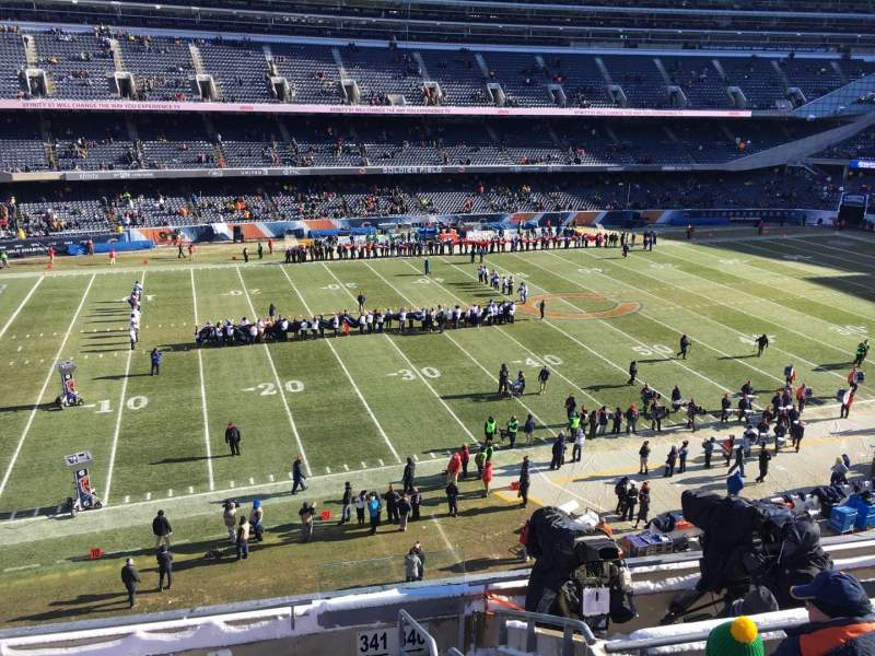 Seating view for Soldier Field Section 341 Row 7 Seat 17