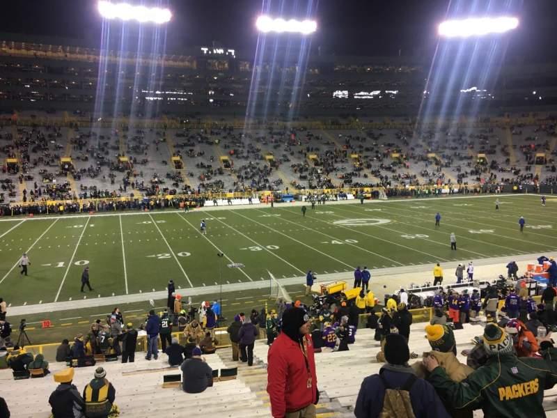 Lambeau Field, section: 125, row: 29, seat: 1