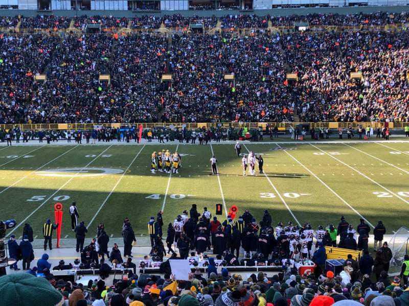 Seating view for Lambeau Field Section 117 Row 31 Seat 9