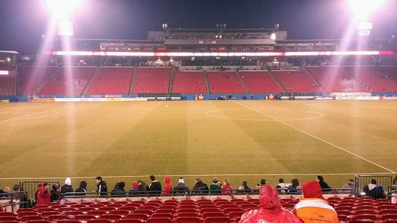Seating view for Toyota Stadium Section 126 Row 13 Seat 9