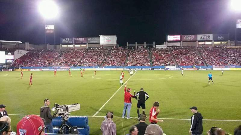 Seating view for Toyota Stadium Section 106 Row 5 Seat 15