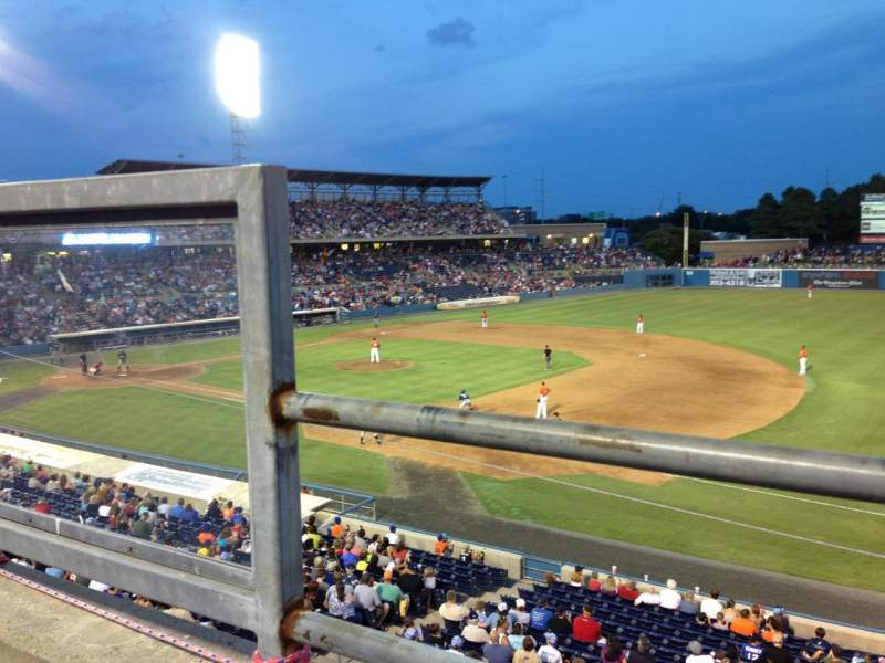 Seating view for Harbor Park Section 314 Row A Seat 2