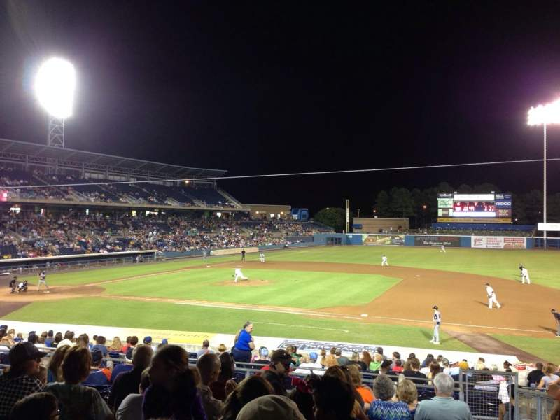 Seating view for Harbor Park Section 210 Row W Seat 21