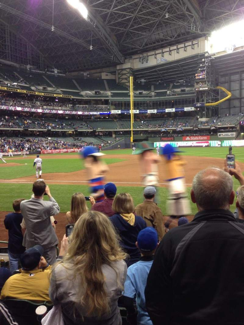 Seating view for Miller Park Section 111 Row 7 Seat 5