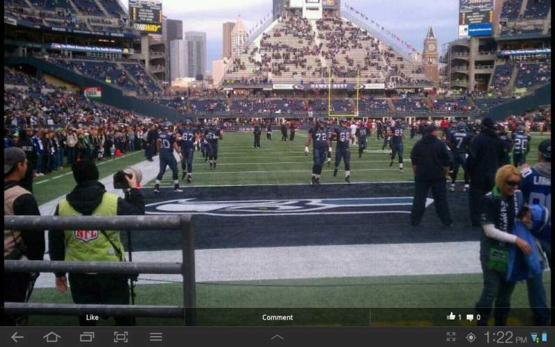 Seating view for CenturyLink Field Section 124 Row b Seat 15