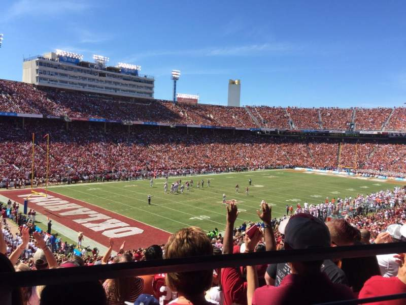 Seating view for Cotton Bowl Section 29 Row 46 Seat 19