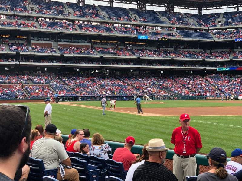 Seating view for Citizens Bank Park Section 111 Row 8