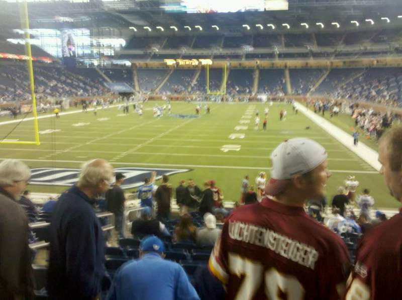 Seating view for Ford Field Section 118 Row 17 Seat 12