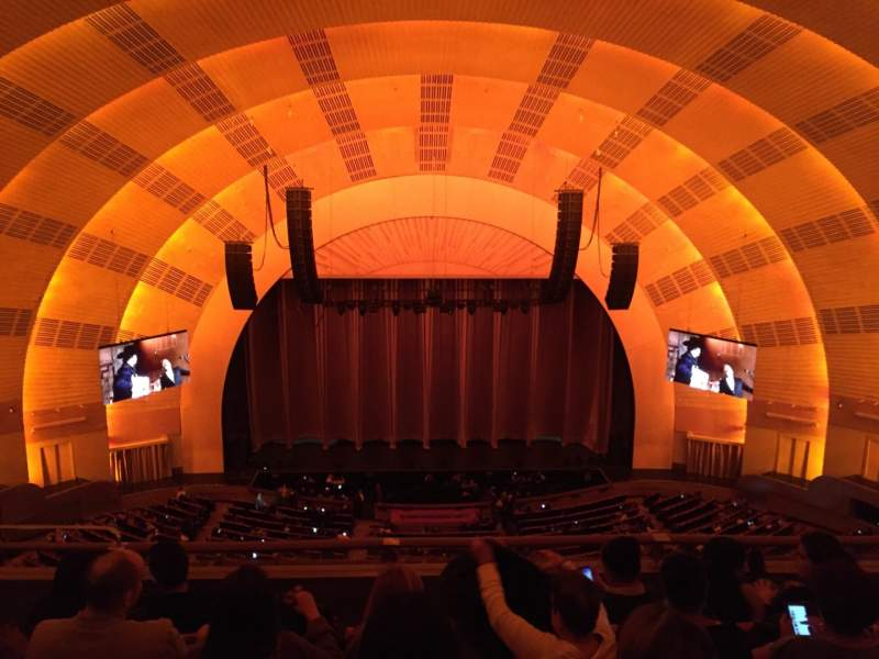 Seating view for Radio City Music Hall Section 3rd Mezzanine 4 Row E Seat 409