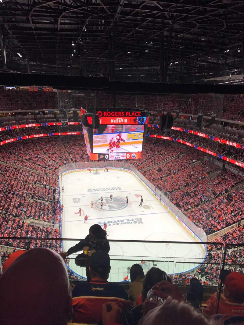 Rogers Place, section: SKY-E, row: STR, seat: 3