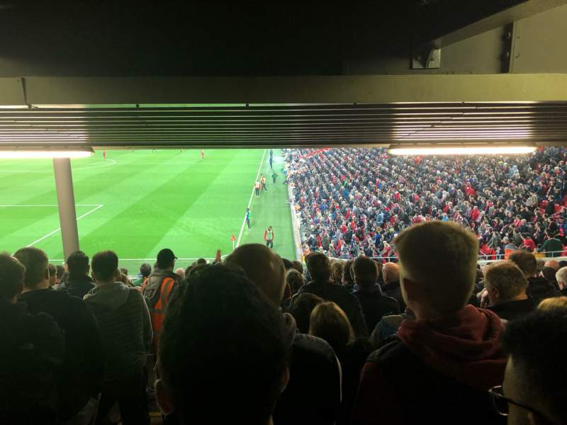 Seating view for Anfield Section 122 Row 34 Seat 24