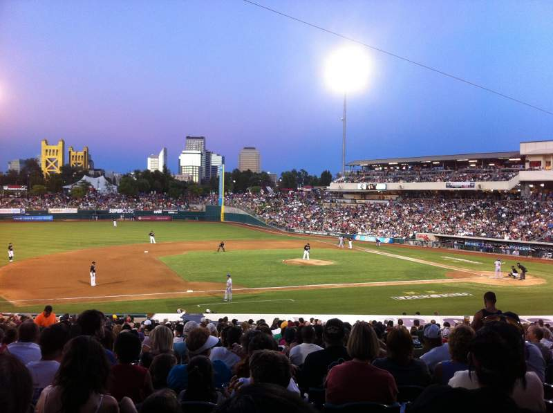 Seating view for Raley Field Section 119 Row 20