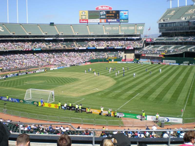 Seating view for Oakland Coliseum Section 208 Row 6