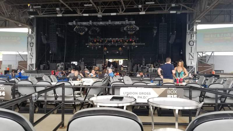 Seating view for Hollywood Casino Amphitheatre (Maryland Heights) Section Center Row X Seat 136