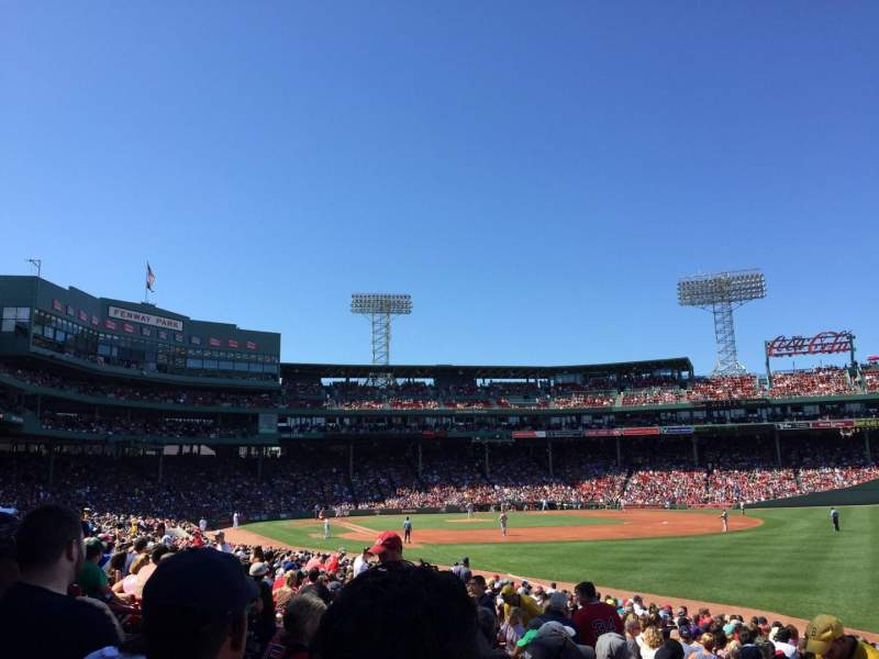 Seating view for Fenway Park Section Right field box 94 Row NN Seat 09