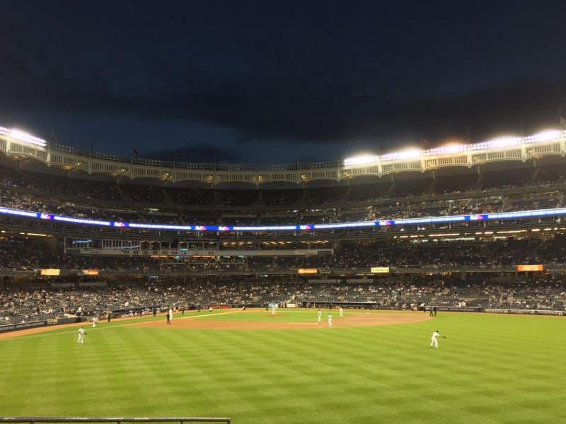 Seating view for Yankee Stadium Section 201 Row 1 Seat 5
