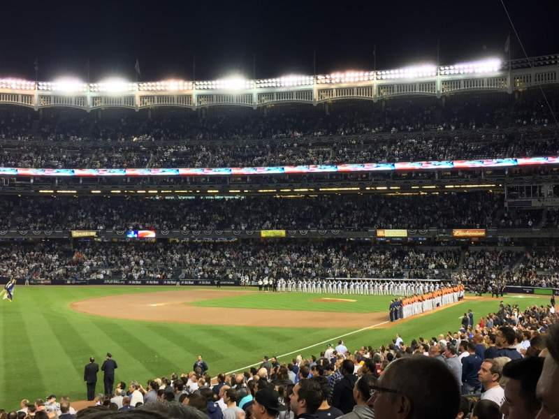 Seating view for Yankee Stadium Section 130 Row 25 Seat 1