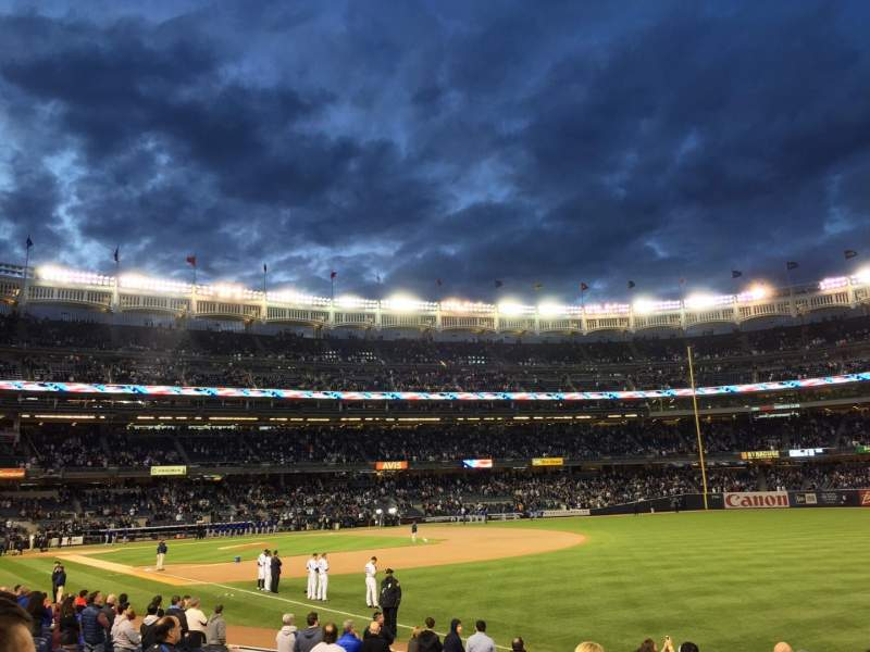 Seating view for Yankee Stadium Section 110 Row 14 Seat 2
