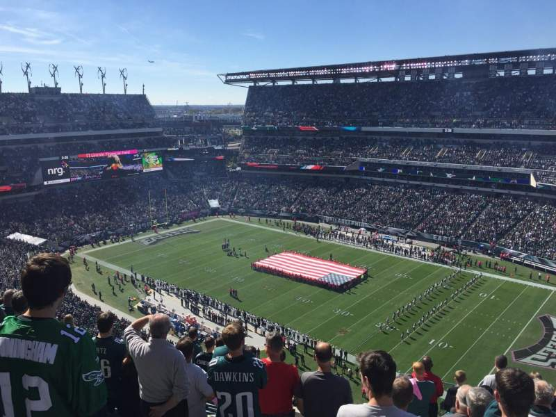Seating view for Lincoln Financial Field Section 229 Row 14 Seat 1