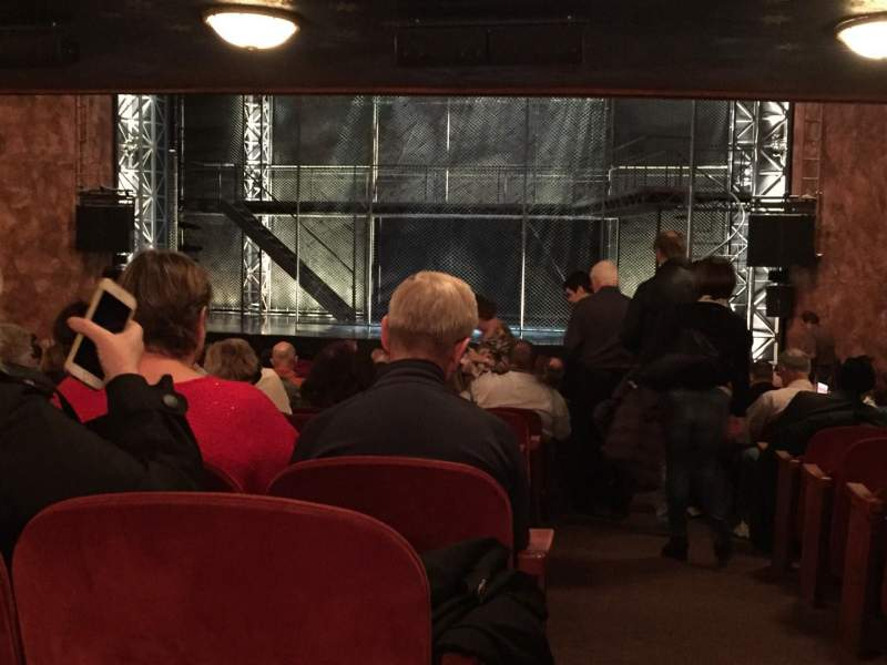 Seating view for August Wilson Theatre Section Y Row X Seat 1
