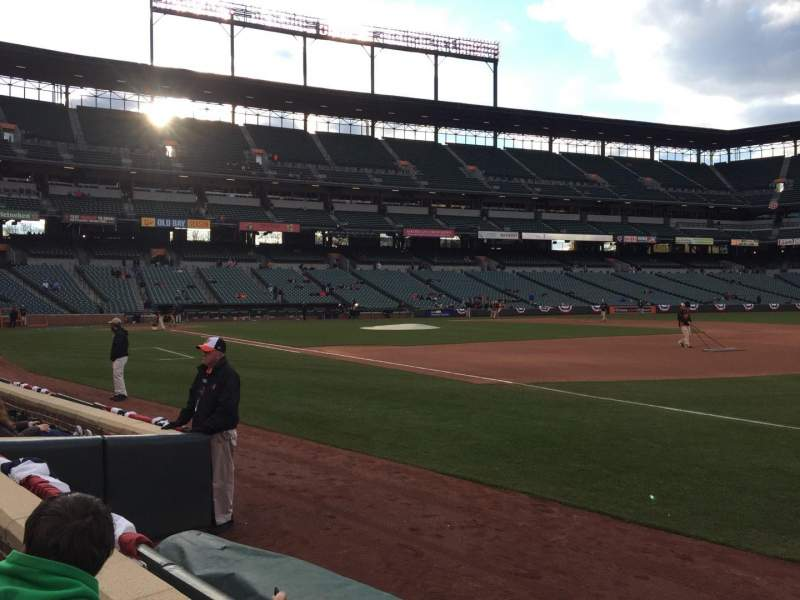 Seating view for Oriole Park at Camden Yards Section 14 Row 2 Seat 5