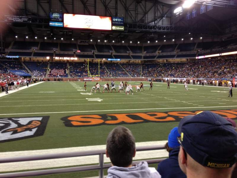 Seating view for Ford Field Section 115 Row 3 Seat 16