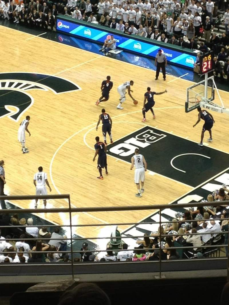 Seating view for Breslin Center Section 223 Row 10 Seat 103