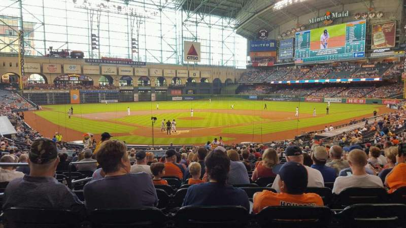 Seating view for Minute Maid Park Section 120 Row 31 Seat 4