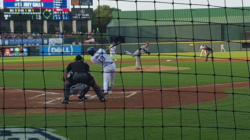 Dell Diamond, section: 120, row: 2, seat: 1