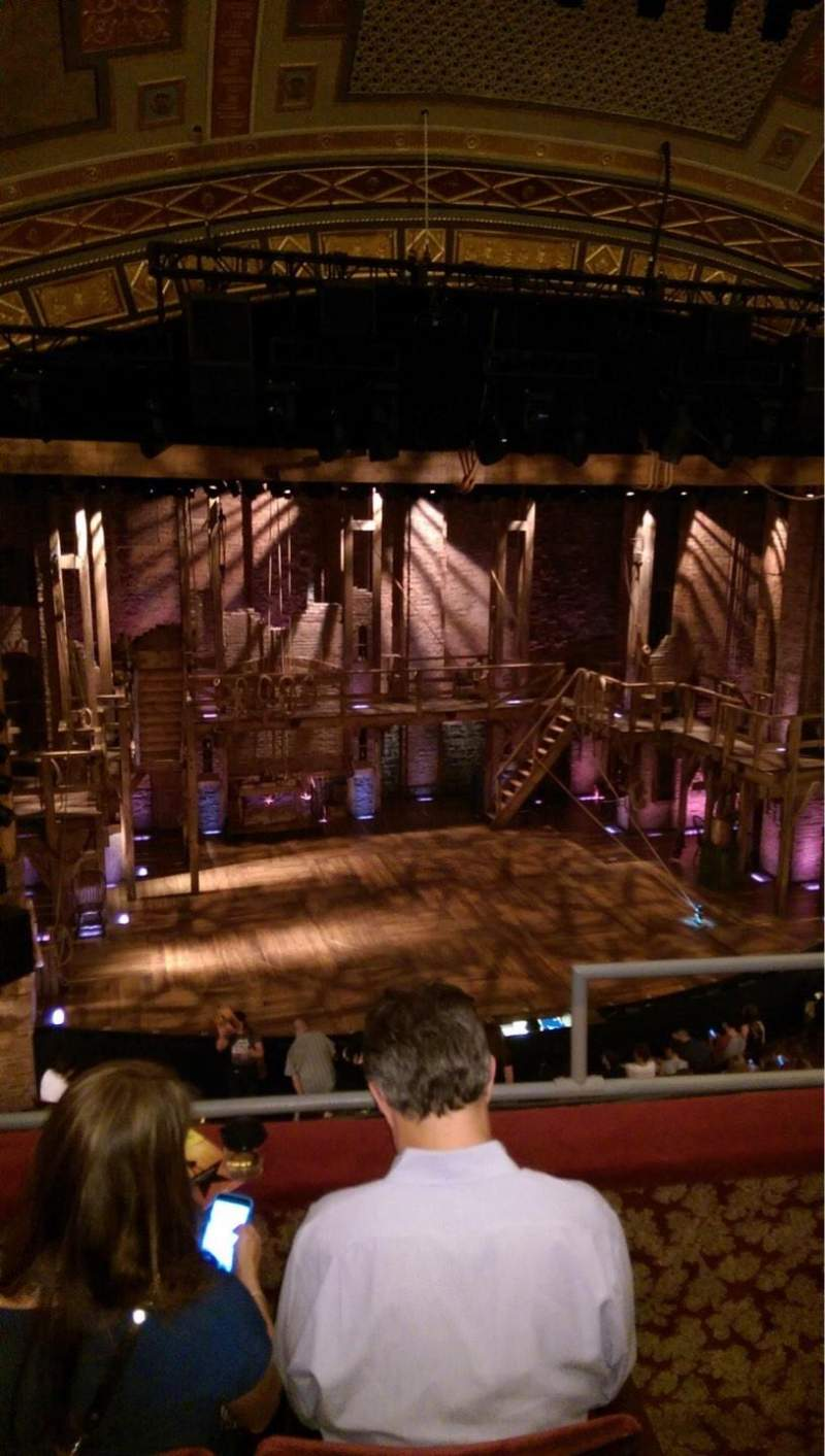 Seating view for Richard Rodgers Theatre Section Front Mezz Row C Seat 3