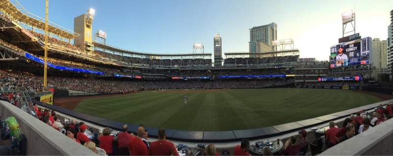 Seating view for PETCO Park Section 133 Row 1 Seat 12