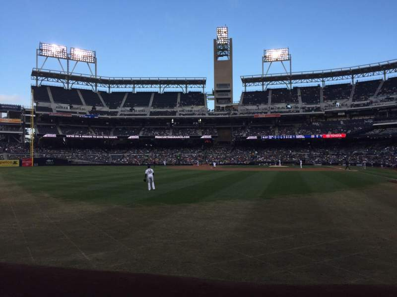 Seating view for PETCO Park Section 126 Row A Seat 14