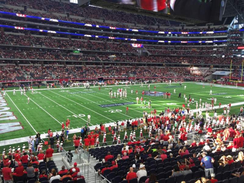 Seating view for AT&T Stadium Section 215 Row 1 Seat 5