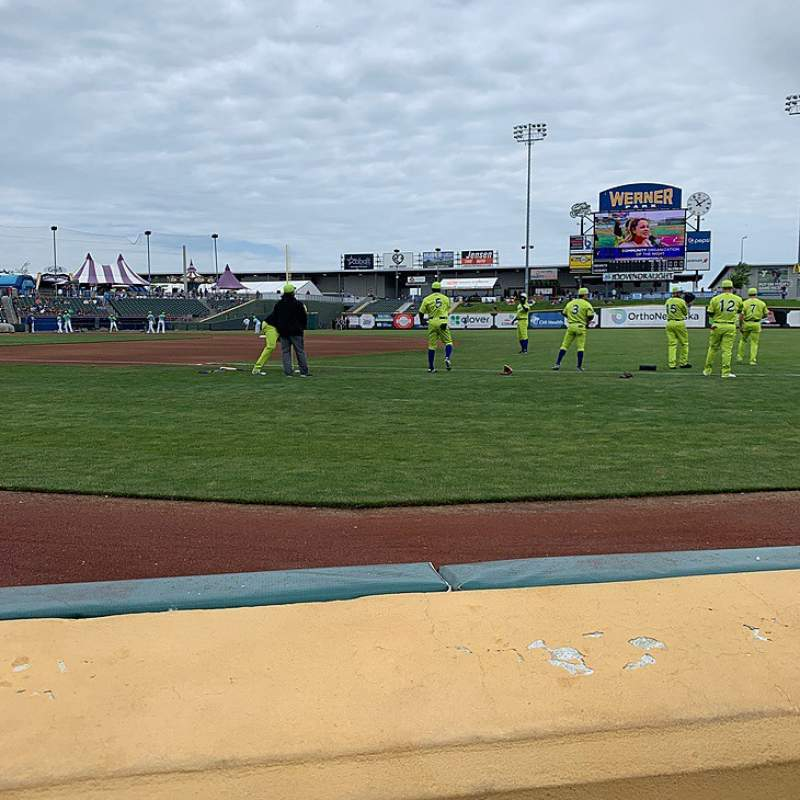 Seating view for Werner Park Section 105 Row 1 Seat 8
